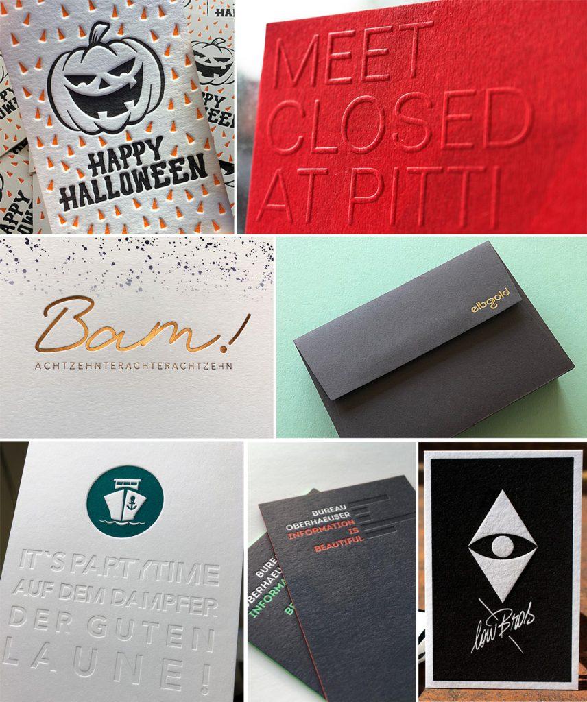 Collage Letterpress Manufaktur Hamburg